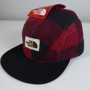 The North Face Sherpa Plaid Fleece Crusher Hat NWT
